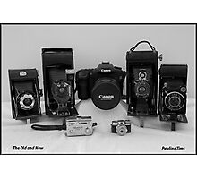 CAMERAS OLD AND NEW Photographic Print