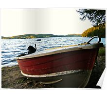 Boat at Lac La Blanche, Quebec Poster