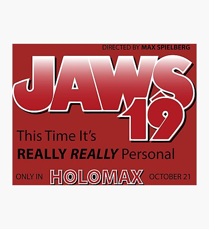 Jaws 19 - Back to the Future Photographic Print