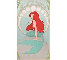 Ariel in Mucha Style Photographic Print