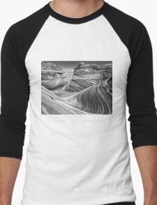 The Wave B&W Men's Baseball ¾ T-Shirt