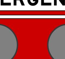 In Case Of Emergency Break Dance (light shirts) Sticker