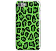 Green Leopard Animal Print iPhone Case/Skin
