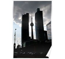 CN Tower from Bay and Harbour Poster