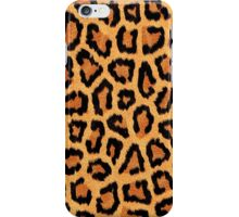 Orange Leopard Print iPhone Case/Skin