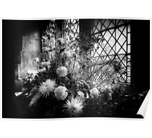 Flowers at St Giles Poster