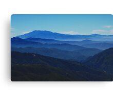 Mountaintop Blues Canvas Print
