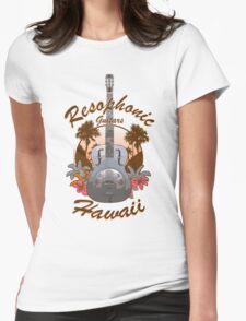 Resophonic Guitar - Hawaii (brown)  Womens Fitted T-Shirt