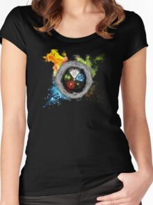 Magic the Gathering: Elemental  Battle Women's Fitted Scoop T-Shirt