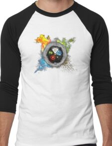 Elemental  Battle Men's Baseball ¾ T-Shirt