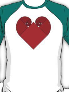Golden Spiral Heart T-Shirt