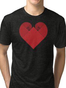 Golden Spiral Heart Tri-blend T-Shirt