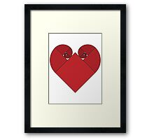 Golden Spiral Heart Framed Print
