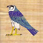 Horus in faience on papyrus by Aakheperure