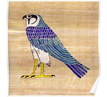 Horus in faience on papyrus Poster
