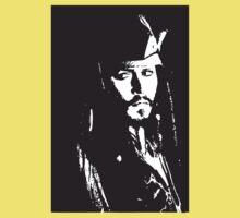 Captain Jack Sparrow T-shirt/sticker Kids Clothes