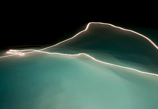Water and Light II by Glennis  Siverson