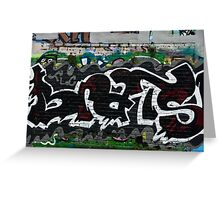 Abstract Graffiti fragment on the textured wall Greeting Card