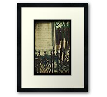 ~whispering from the grave~ Framed Print