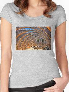 The Cretan golden arches Women's Fitted Scoop T-Shirt