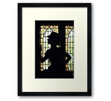 Beautiful  lady in a castle Framed Print