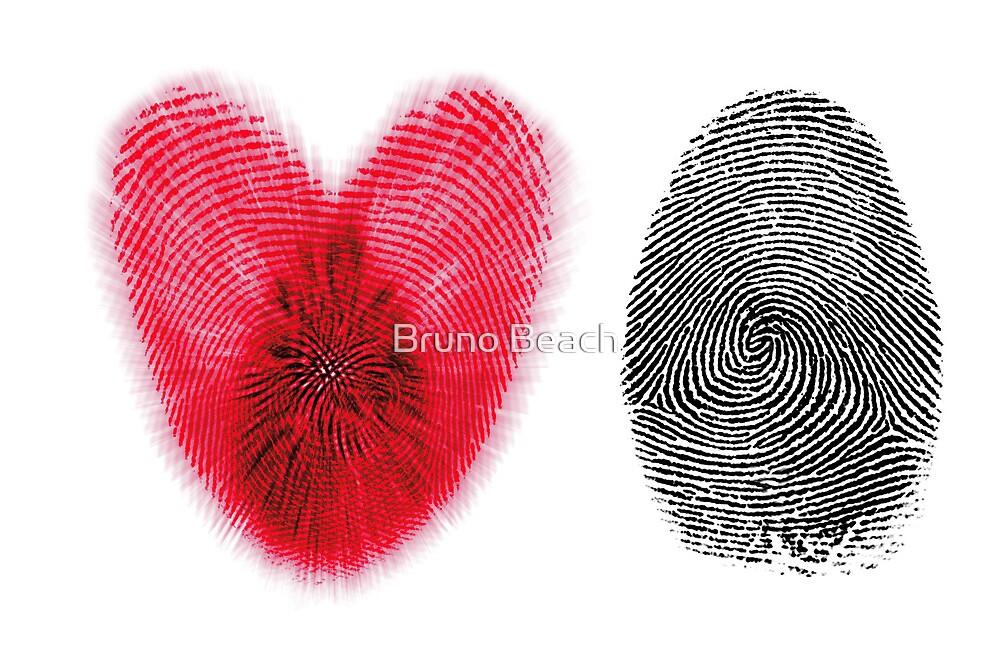 Fingerprint heart by E ROS