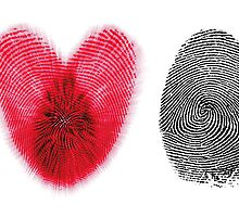 Fingerprint heart by Atanas Bozhikov NASKO