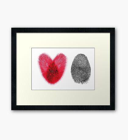 Fingerprint heart Framed Print