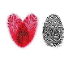Fingerprint heart Photographic Print