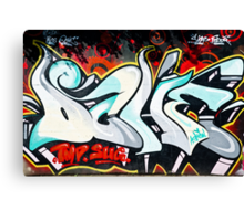 Abstract and Colorful Graffiti on the textured wall Canvas Print