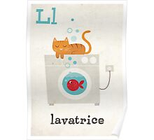 L is for Lavatrice Poster