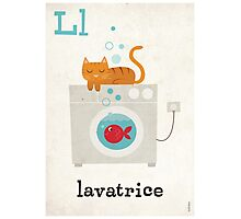 L is for Lavatrice Photographic Print