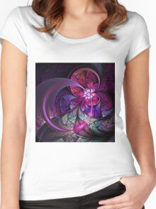 Fly - Abstract Fractal Artwork Women's Fitted Scoop T-Shirt