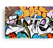 Abstract Graffiti on the textured wall Canvas Print