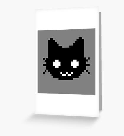 8-bit kitten Greeting Card
