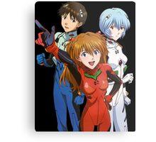 neon genesis evangelion rei ayanami asuka soryu shinji anime manga shirt Metal Print