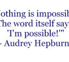 Hepburn Quote Sticker