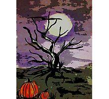 Spooky tree, watercolor Photographic Print