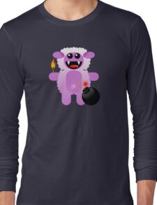 SHEEP 4 (Cute pet has a bomb and its alight!) Long Sleeve T-Shirt