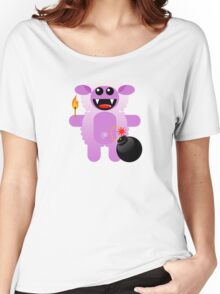 SHEEP 4 (Cute pet has a bomb and its alight!) Women's Relaxed Fit T-Shirt