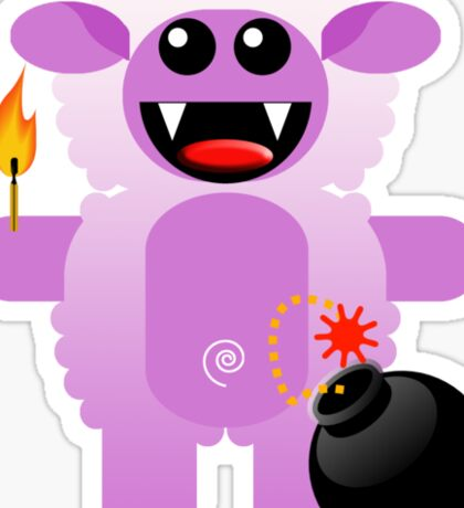 SHEEP 4 (Cute pet has a bomb and its alight!) Sticker