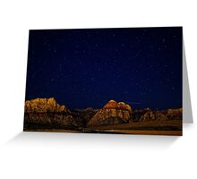 Night sky and mountains Greeting Card