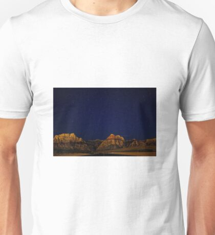 Night sky and mountains Unisex T-Shirt