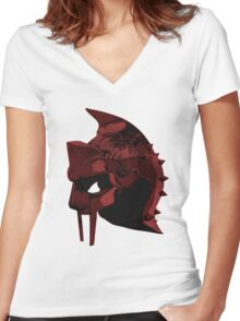 Full Metal Gladiator- Gladiator Shirt Women's Fitted V-Neck T-Shirt