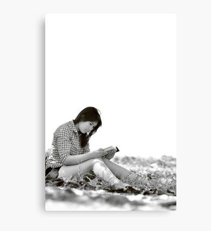 Read a Book in Nature Canvas Print