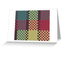 Faux Knit Plaid Greeting Card