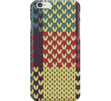 Faux Knit Plaid iPhone Case/Skin