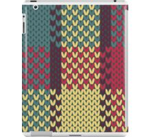 Faux Knit Plaid iPad Case/Skin