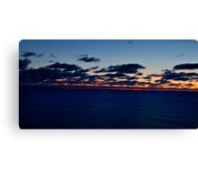 Sea, Sunset. Movement. Canvas Print
