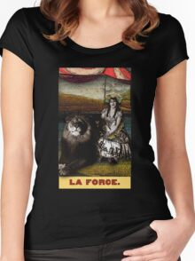 Circus Tarot: Strength Women's Fitted Scoop T-Shirt